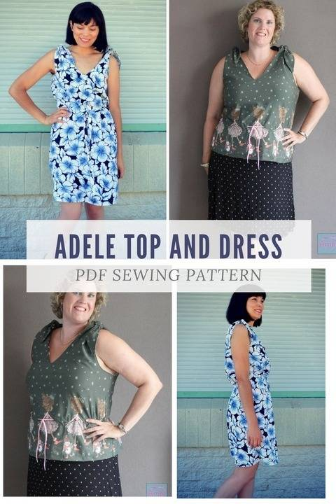 The Adele Top and Dress Pattern at Makerist