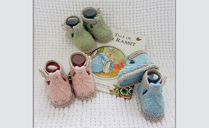 BunnyKids Knitted Booties at Makerist - Image 1