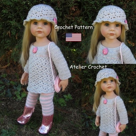 """""""Clarisse"""" crochet pattern for Götz or American Girl Doll at Makerist - Image 1"""