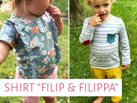 "Kinder-Shirts ""Filip & Filippa"" bei Makerist"