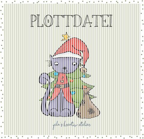 """Plotterdatei  Yela`s Kreativ Atelier """"Kittykat Weihnachten"""""""
