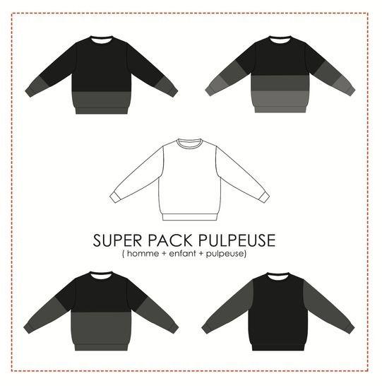Super Pack Pulpeuse - sweat Andrea chez Makerist - Image 1