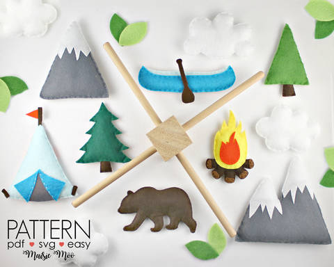 Baby Mobile Pattern, Camping Baby Mobile at Makerist