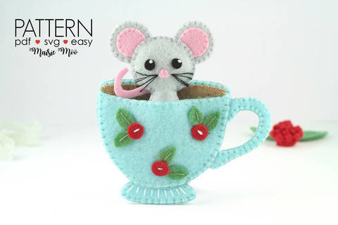 Mouse in Teacup Ornament - Christmas at Makerist