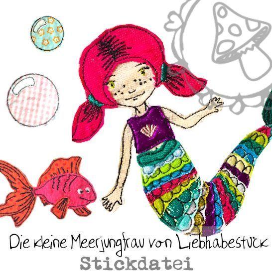 Die kleine Meerjungfrau, Stickdatei  bei Makerist - Bild 1