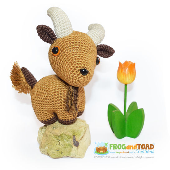 Goat - AUGUSTE the Goat - Amigurumi Crochet Pattern - PDF at Makerist - Image 1