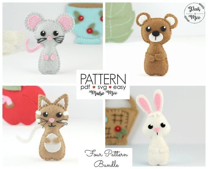 MIni Felt Animals - Pocket Peek a Moo Pals at Makerist - Image 1