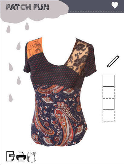 Girl Patch Top pdf sewing pattern  at Makerist - Image 1