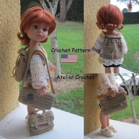"""""""Back to school"""" set für 32-34cm Puppe"""