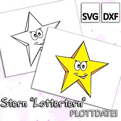 """Stern """"Lottertern"""" - Plottdatei"""