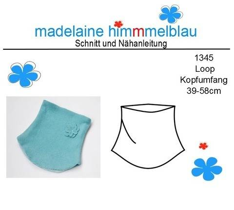 1345 Ebook Schnittmuster Schal Kind Loop Gr. 39-58