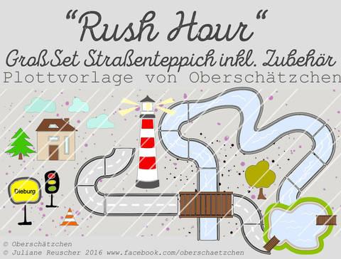 Rush Hour GroßSet Straßenteppich inkl. Fluss + See