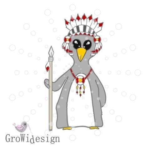 Pinguinindianer Plotterdatei bei Makerist