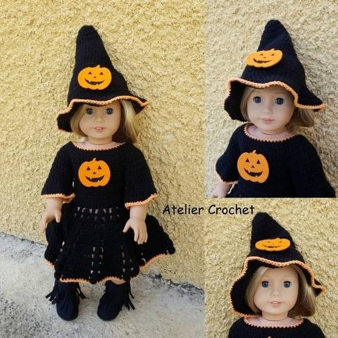 """Miss Halloween"" pour American Girl chez Makerist"