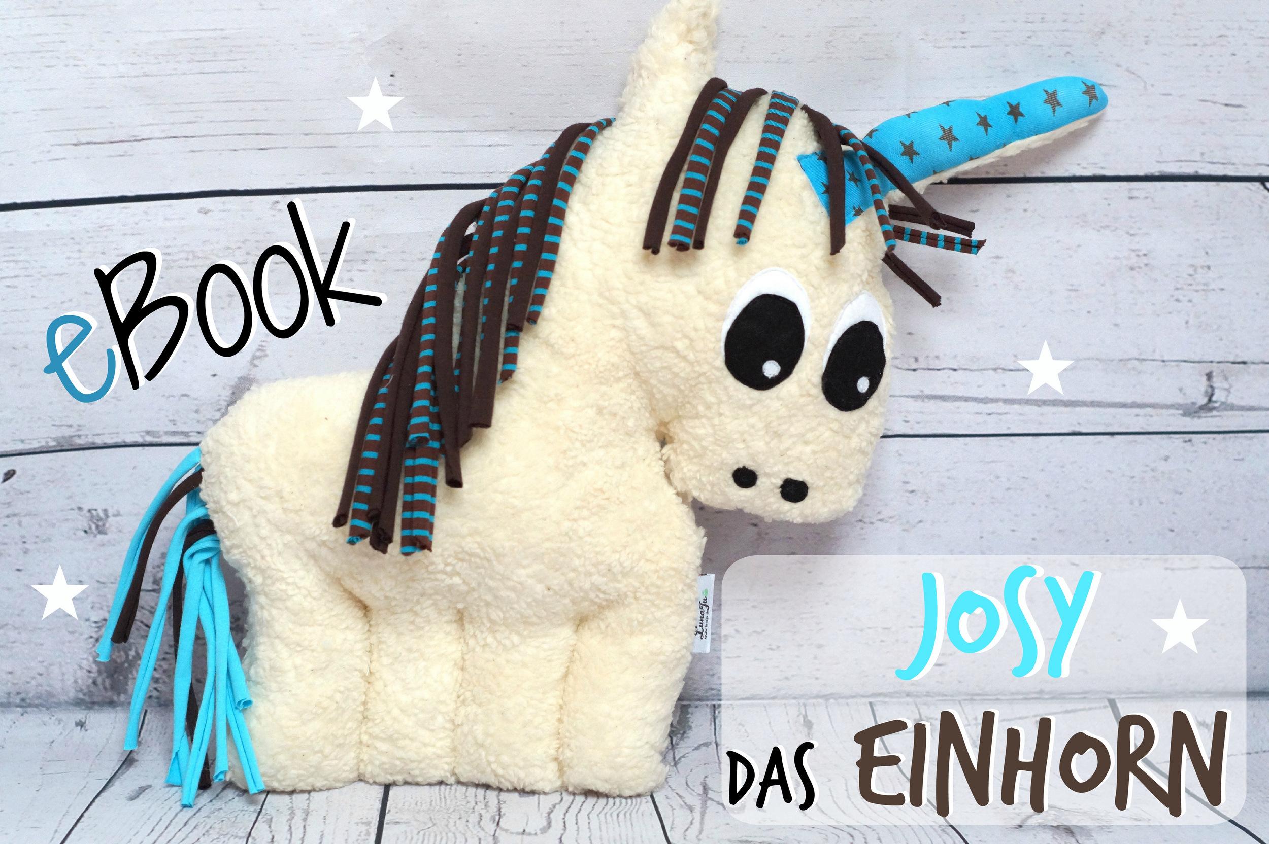 Ebook Josy das Einhorn- Nähanleitung, Schnitt.