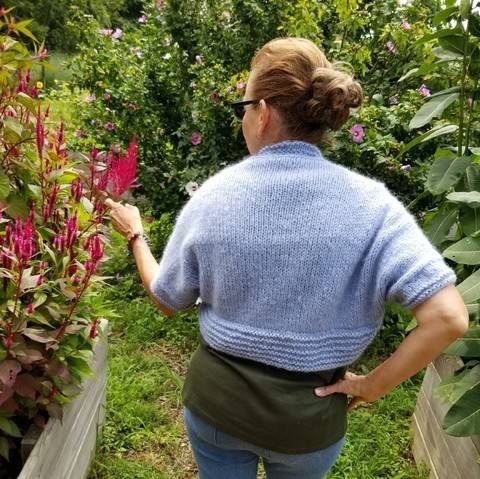 Alpaca Blue Bolero/Shrug at Makerist