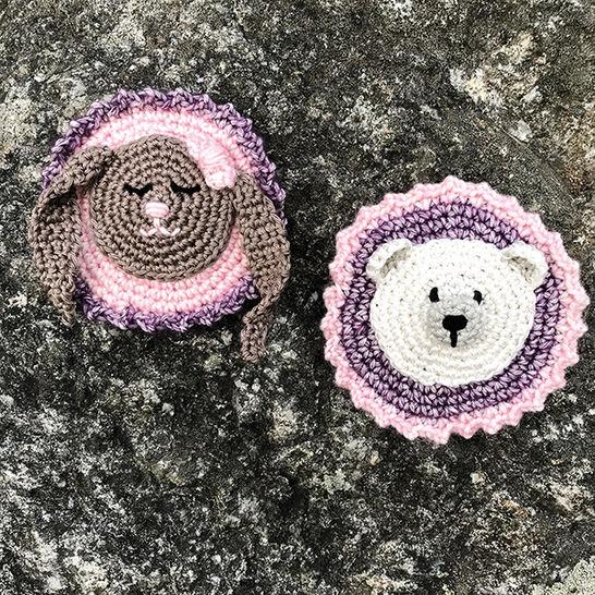 Schulranzen Patches zum kletten Add-on Eisbär und Hase bei Makerist - Bild 1
