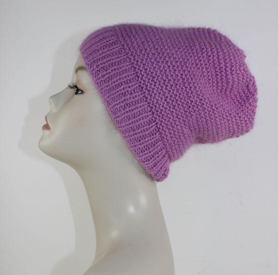Fluffy Garter Stitch Slouch Hat at Makerist - Image 1