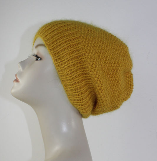 Fluffy Moss Stitch Slouch Hat at Makerist - Image 1