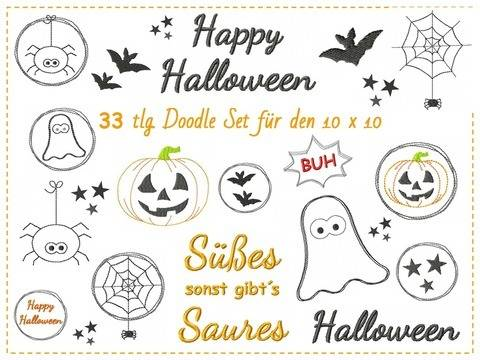 Halloween Stickdatei Set bei Makerist
