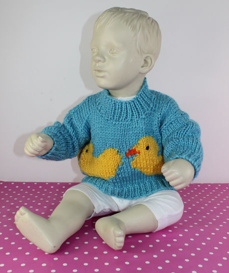 Baby & Toddler Chunky Rubber Duck Sweater at Makerist - Image 1