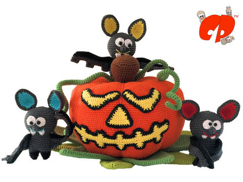 Häkelanleitung (067): Halloween-Kürbis bei Makerist