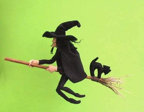 Mistress Cackle cloth doll witch sewing pattern PDF