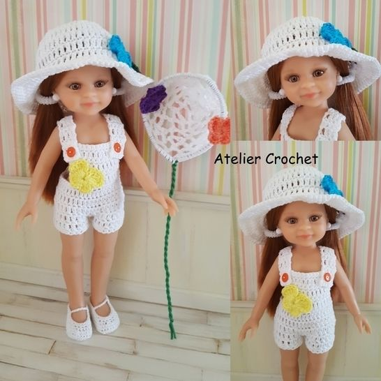 """""Catching Butterflies"" crochet pattern for Paola Reina doll at Makerist - Image 1"