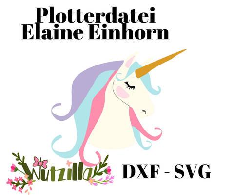 Einhorn Elaine Plotterdatei