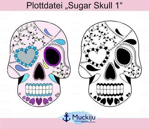 """Plotterdatei """"Sugar Skulls 1"""""""