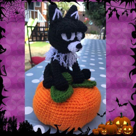 Tutos PDF chat noir et citrouille crochet chez Makerist - Image 1