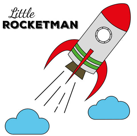 Plottdatei Kleine Rakete aka Little Rocketman bei Makerist