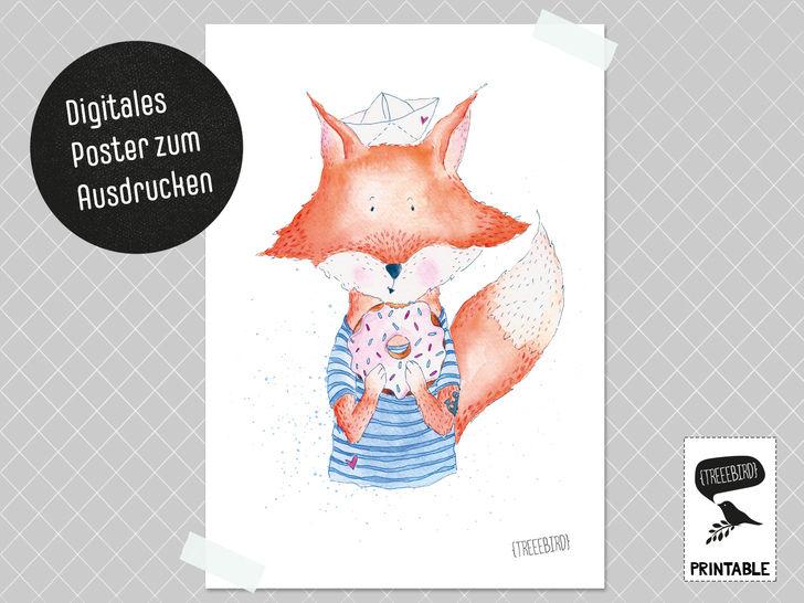 Poster Fuchsjunge zum Ausdrucken bei Makerist - Bild 1