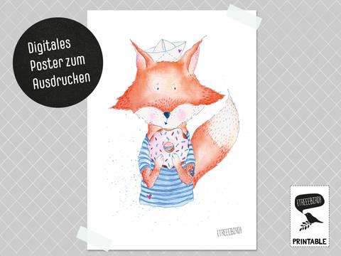 Poster Fuchsjunge zum Ausdrucken bei Makerist