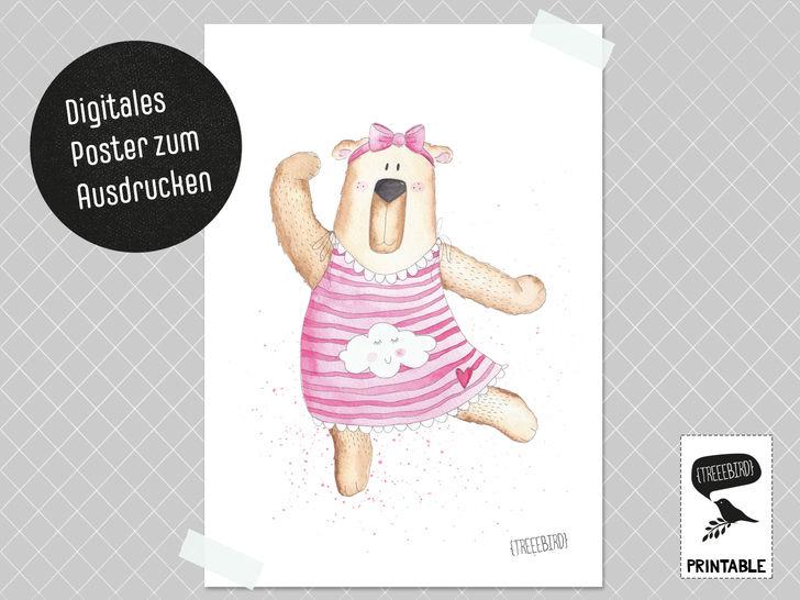 Poster Tanzbärin zum Ausdrucken bei Makerist - Bild 1