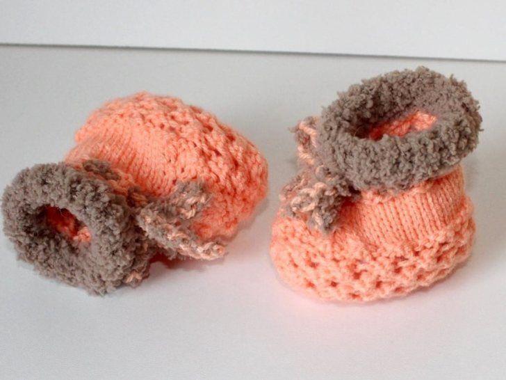 Strickanleitung Baby-Schuhe, Sohlenlänge ca. 9,5 cm bei Makerist - Bild 1