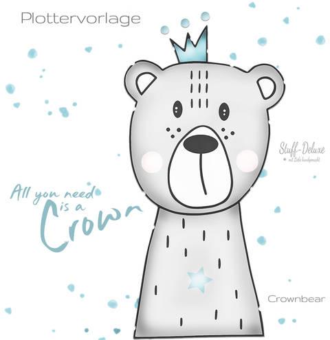 stuffdeluxe Crownbear Plottervorlage bei Makerist