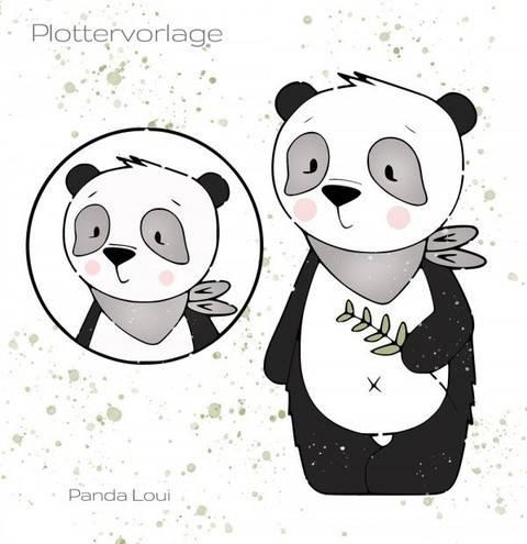 stuffdeluxe Panda Loui Plottervorlage bei Makerist