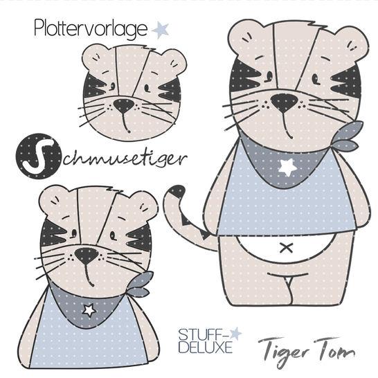 stuffdeluxe Tiger Tom Plottervorlage  bei Makerist - Bild 1