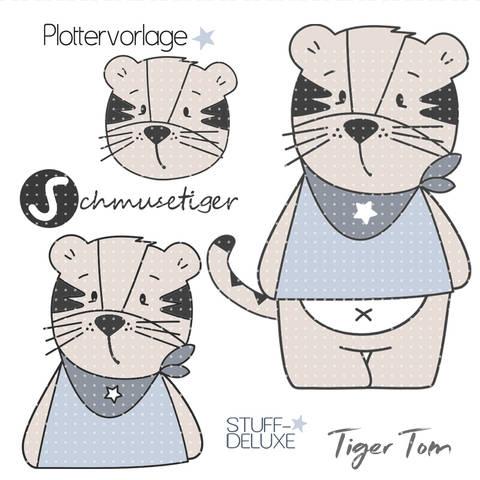 stuffdeluxe Tiger Tom Plottervorlage  bei Makerist