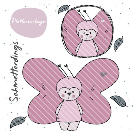 stuffdeluxe Schmetterdings Plottervorlage bei Makerist