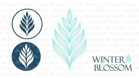 """Plotterdatei """"Winter Blossom"""" Blatt"""