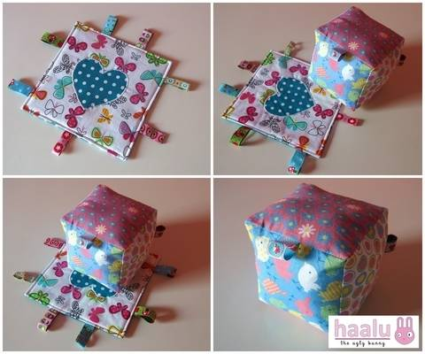 Crinkle Ribbon Toy & Rattle Block - sewing tutorial at Makerist