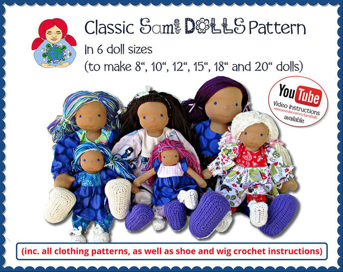 Classic Sami Girl Doll | 6 sizes | PDF Waldorf Doll tutorial at Makerist - Image 1