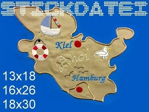 Schleswig Holstein HH Puzzle 3 Größen  bei Makerist