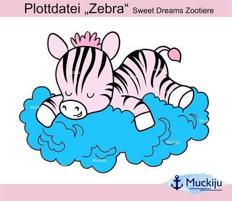 """Plottdatei """"Zebra"""" Sweet Dreams Zootiere"""
