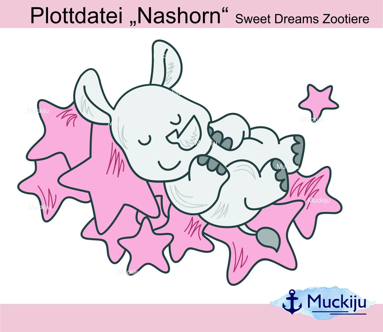 """Plottdatei """"Nashorn"""" Sweet Dreams Zootiere"""