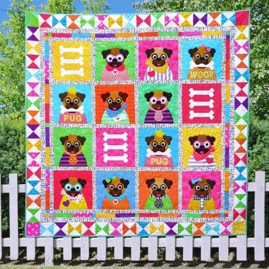 A Pug's Life - Quilt Pattern at Makerist - Image 1