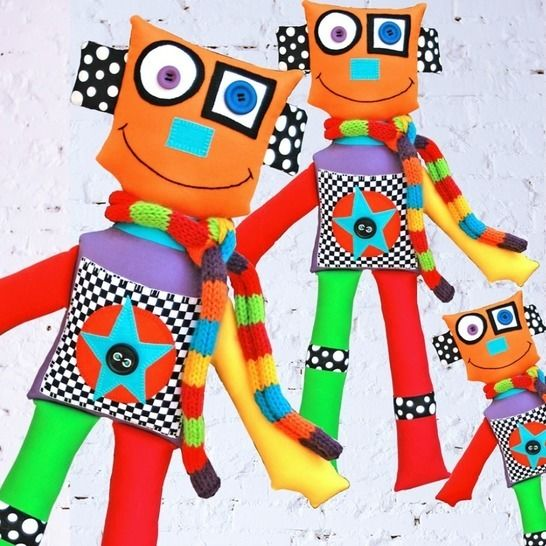 Isaac the Robot - Soft Toy Pattern at Makerist - Image 1