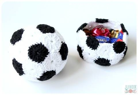 Patron Corbeille et Ballon de Foot en Crochet chez Makerist